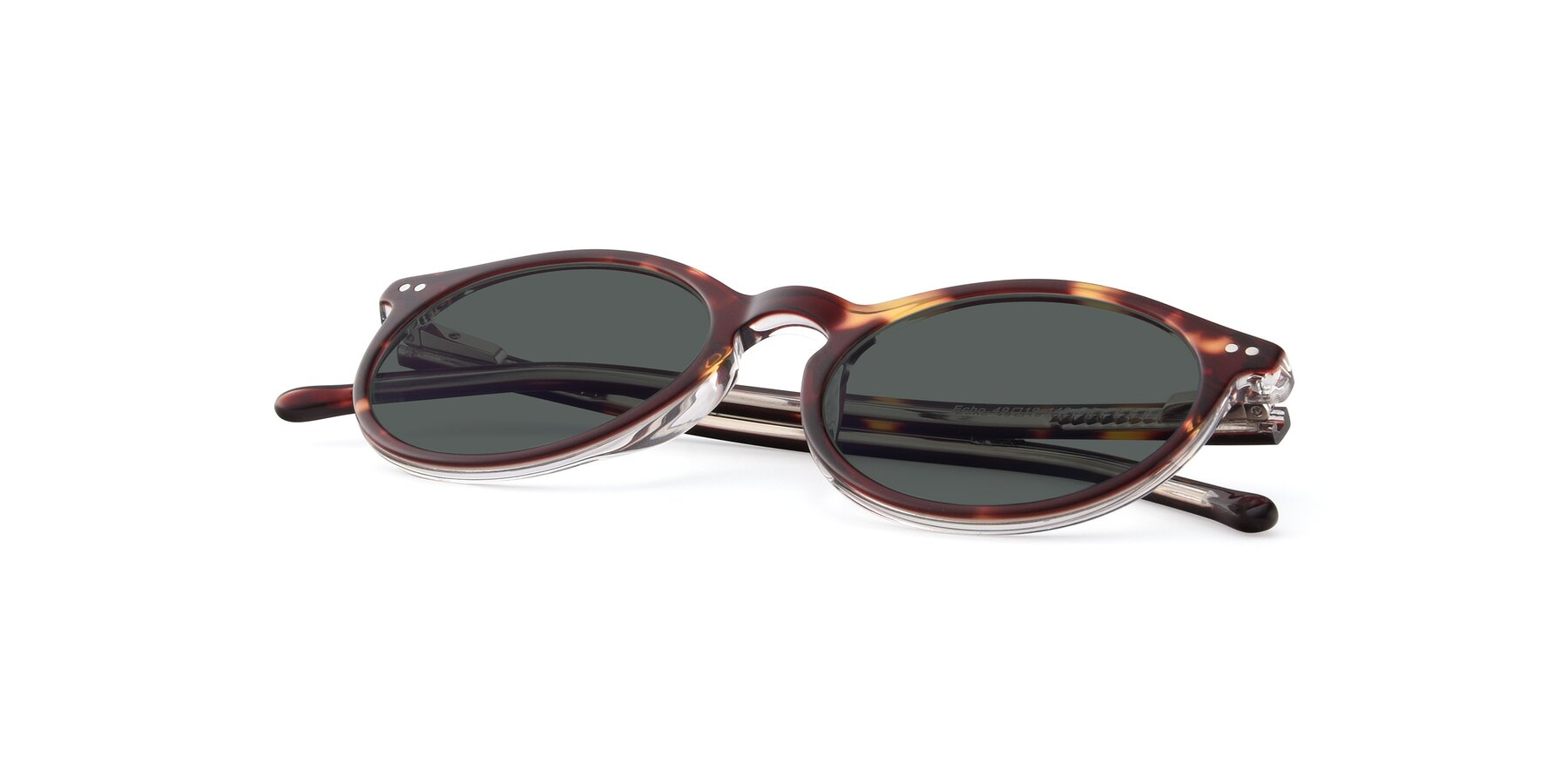 View of JS9026A in Tortoise-Clear with Gray Polarized Lenses