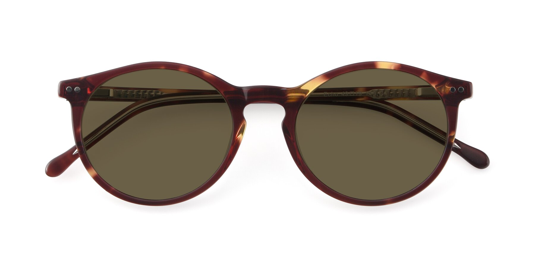 Folded Front of JS9026A in Tortoise-Clear with Brown Polarized Lenses