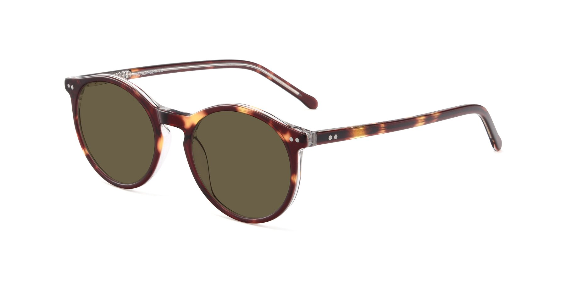Angle of JS9026A in Tortoise-Clear with Brown Polarized Lenses