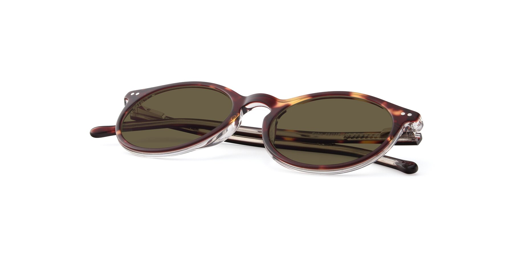 View of JS9026A in Tortoise-Clear with Brown Polarized Lenses