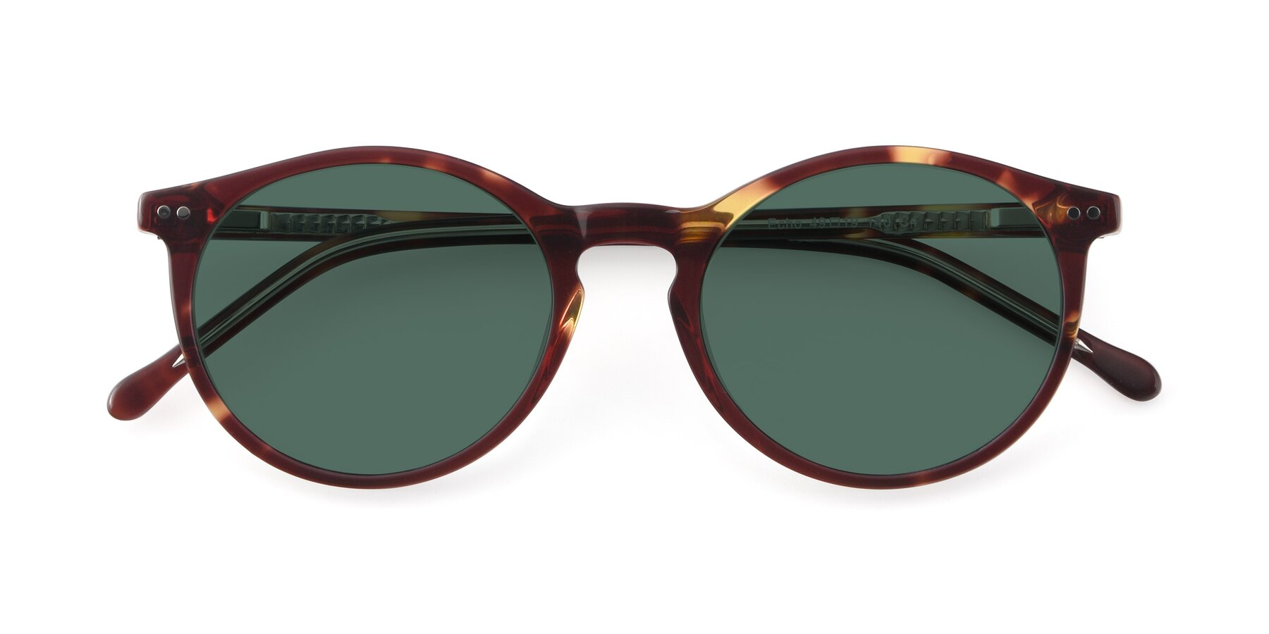 Folded Front of JS9026A in Tortoise-Clear with Green Polarized Lenses