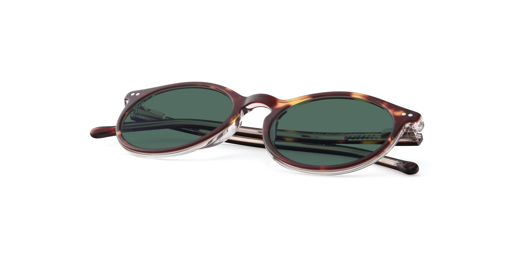 View of JS9026A in Tortoise-Clear with Green Polarized Lenses