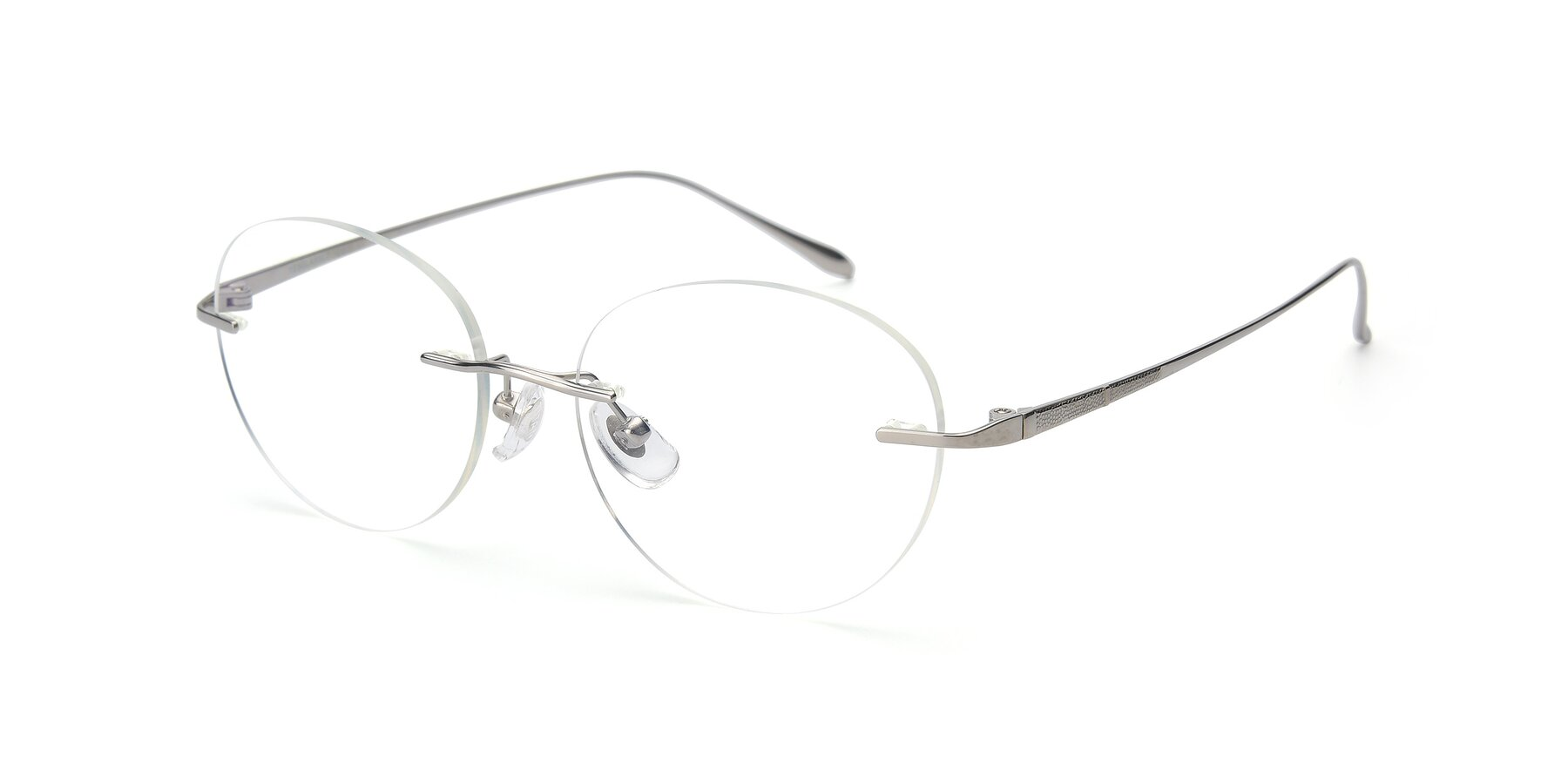 Angle of Sober in Silver with Clear Blue Light Blocking Lenses