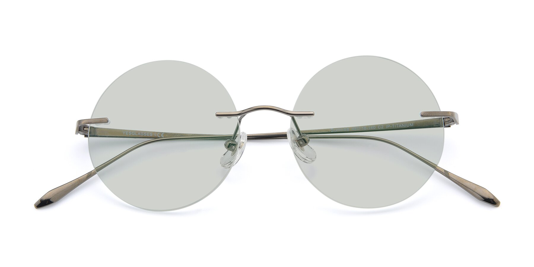 Folded Front of Sunrise in Gun with Light Green Tinted Lenses