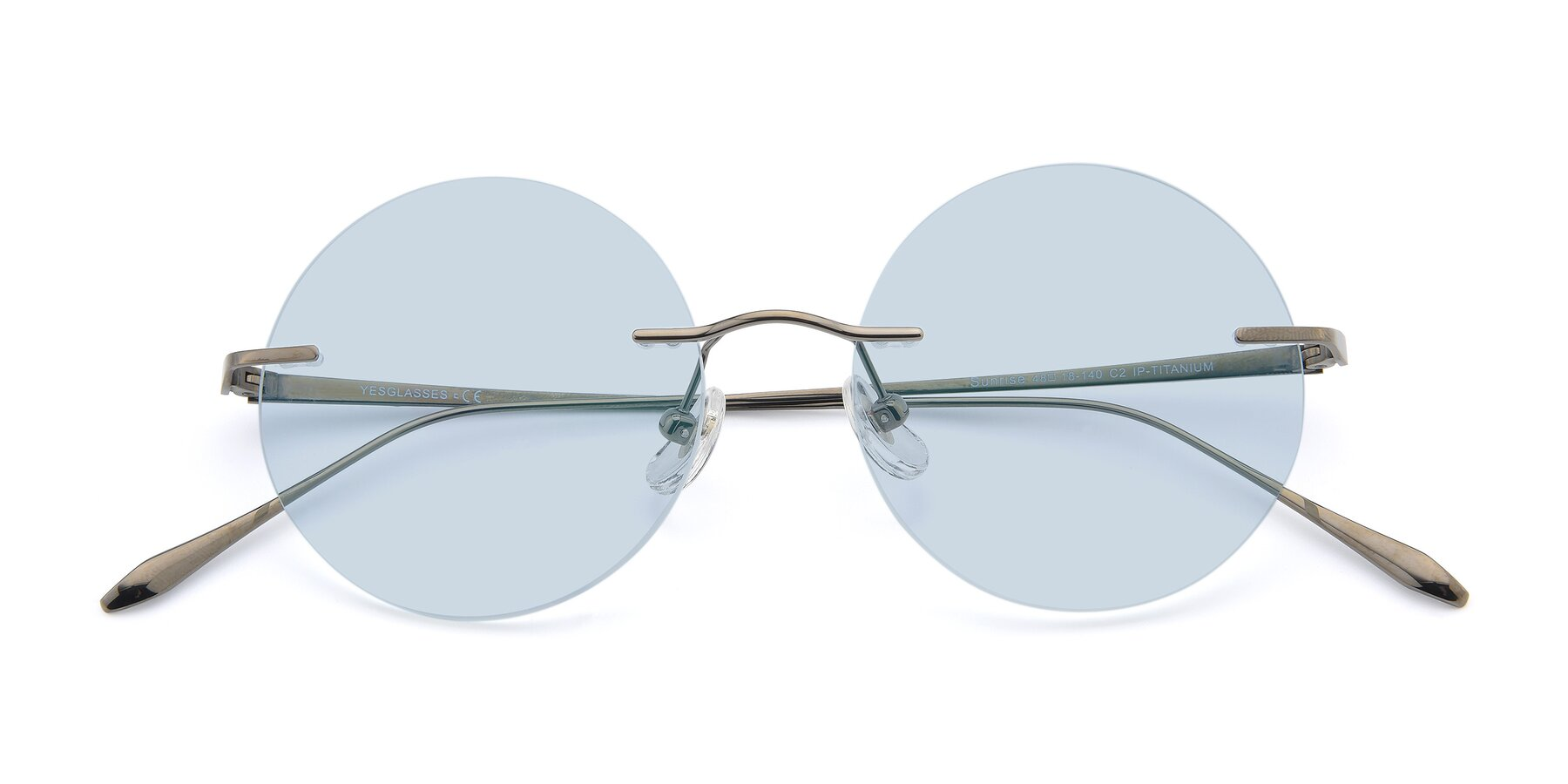 Folded Front of Sunrise in Gun with Light Blue Tinted Lenses