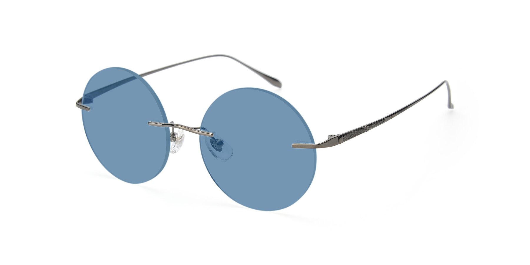 Angle of Sunrise in Gun with Medium Blue Tinted Lenses