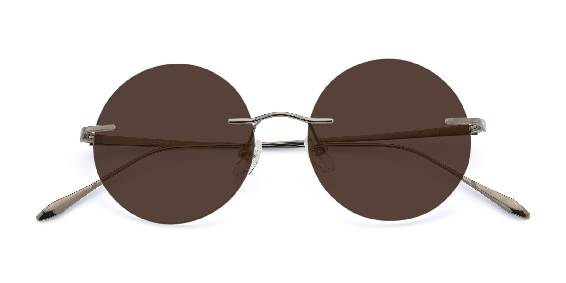Folded Front of Sunrise in Gun with Brown Tinted Lenses