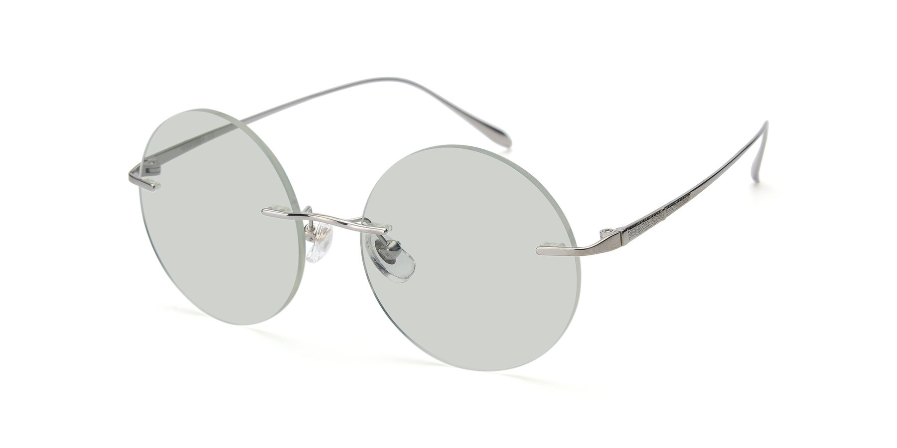 Angle of Sunrise in Silver with Light Green Tinted Lenses
