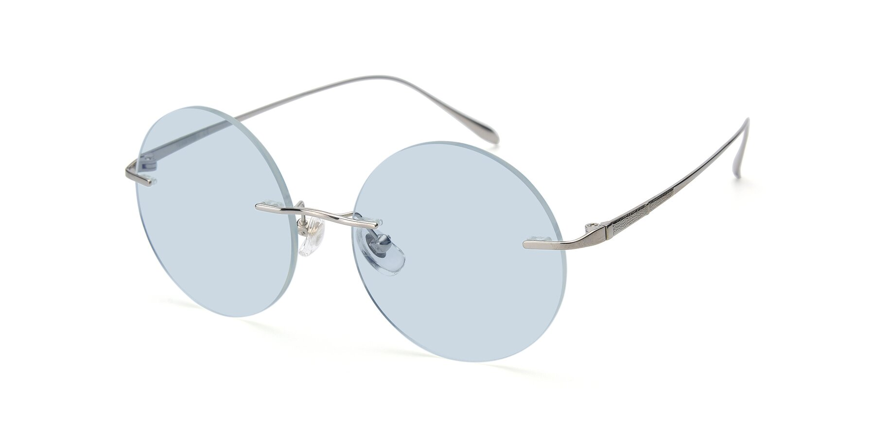 Angle of Sunrise in Silver with Light Blue Tinted Lenses