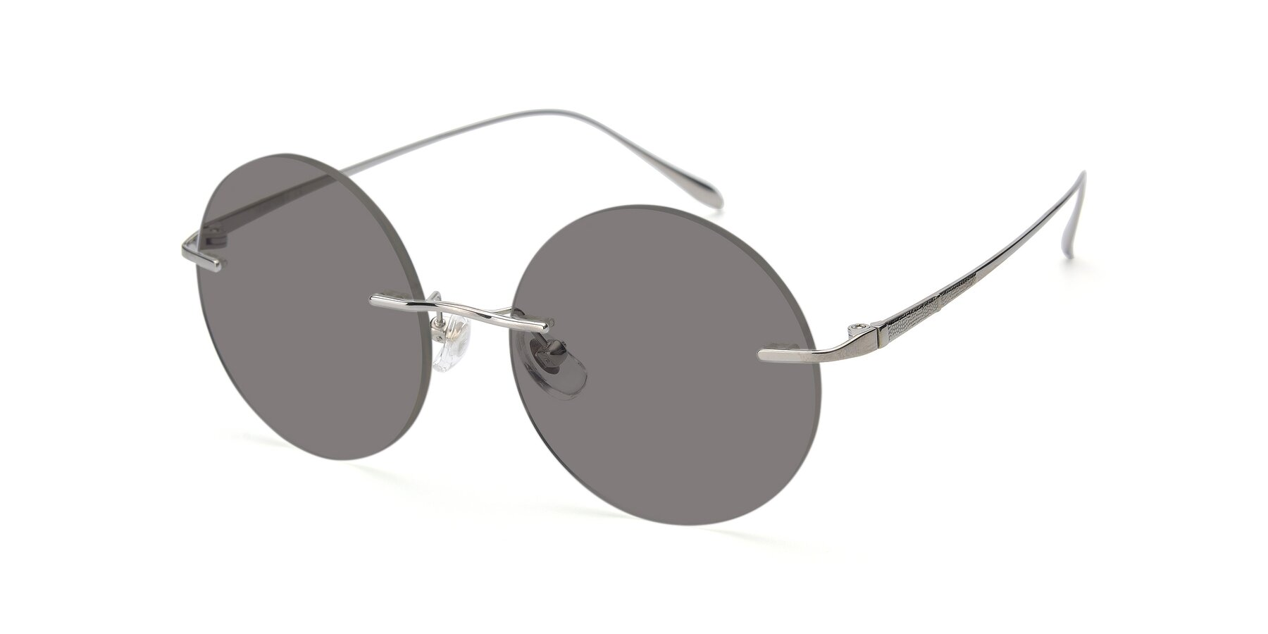 Angle of Sunrise in Silver with Medium Gray Tinted Lenses