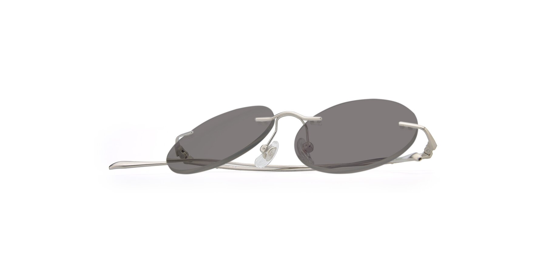 View of Sunrise in Silver with Medium Gray Tinted Lenses