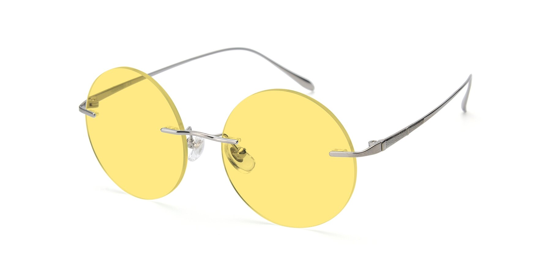 Angle of Sunrise in Silver with Medium Yellow Tinted Lenses