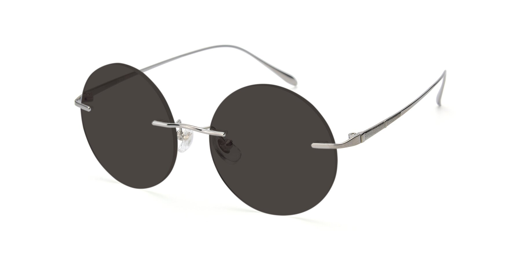 Angle of Sunrise in Silver with Gray Tinted Lenses