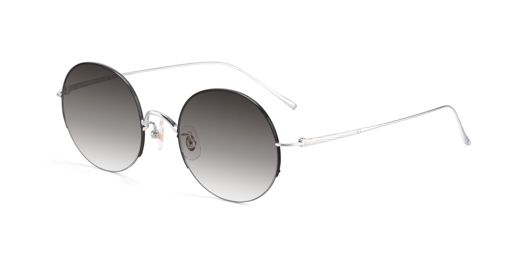Angle of Harry in Black-Silver with Gray Gradient Lenses