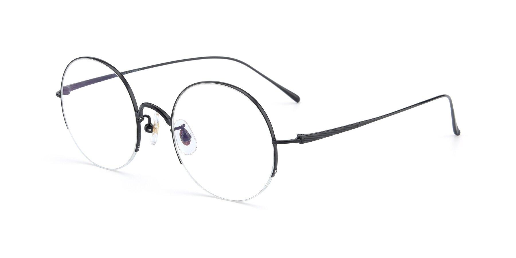 Angle of Harry in Matte Black with Clear Blue Light Blocking Lenses