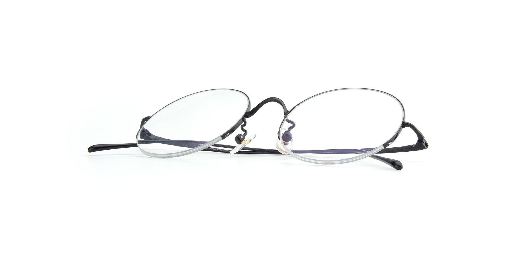 View of Harry in Matte Black with Clear Blue Light Blocking Lenses