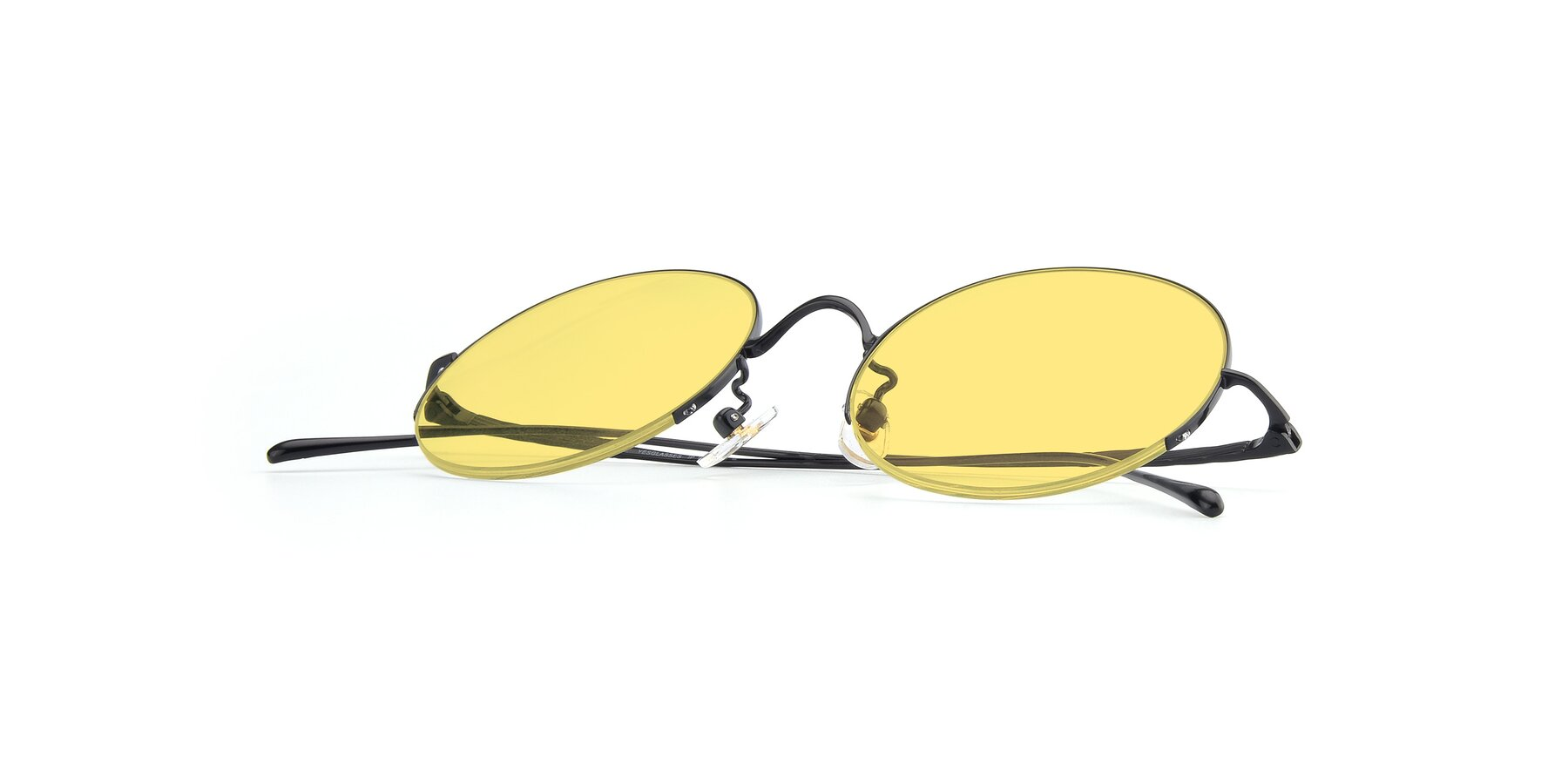 View of Harry in Matte Black with Medium Yellow Tinted Lenses