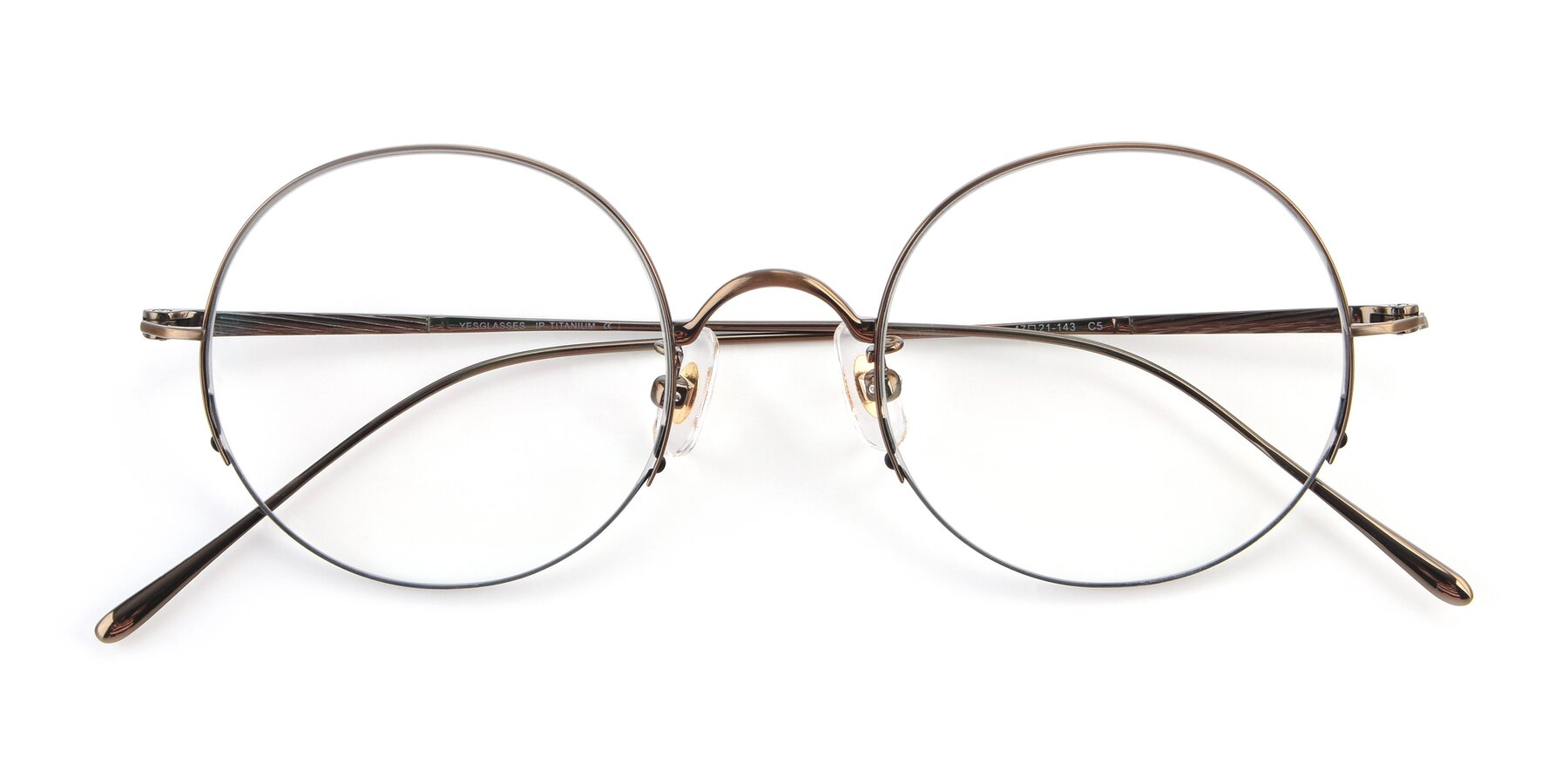 Folded Front of Harry in Bronze with Clear Blue Light Blocking Lenses