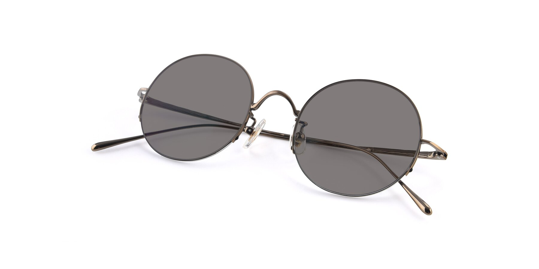 View of Harry in Bronze with Medium Gray Tinted Lenses