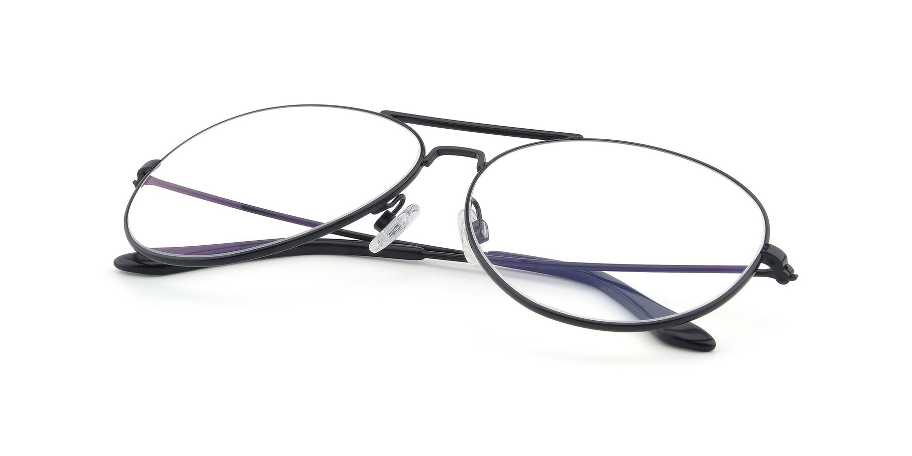 View of Paradise in Black with Clear Blue Light Blocking Lenses