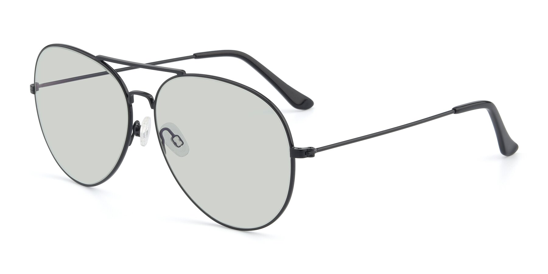 Angle of Paradise in Black with Light Green Tinted Lenses