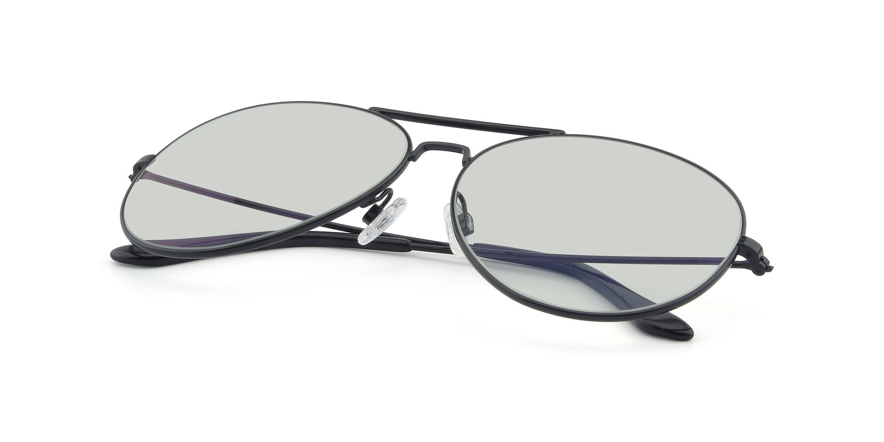 View of Paradise in Black with Light Green Tinted Lenses