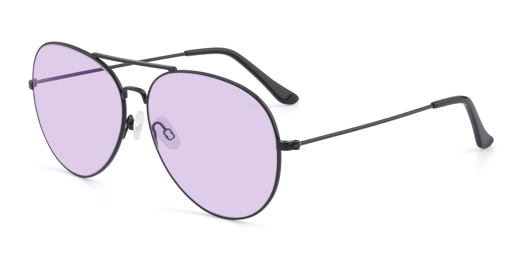 Angle of Paradise in Black with Light Purple Tinted Lenses
