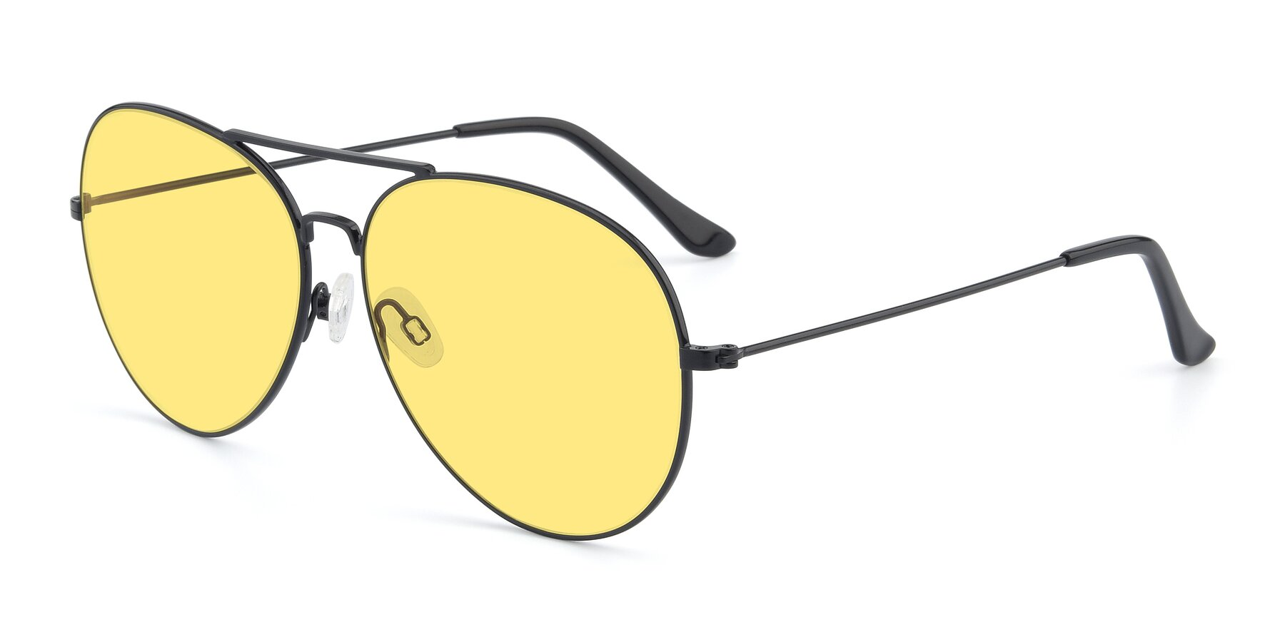 Angle of Paradise in Black with Medium Yellow Tinted Lenses