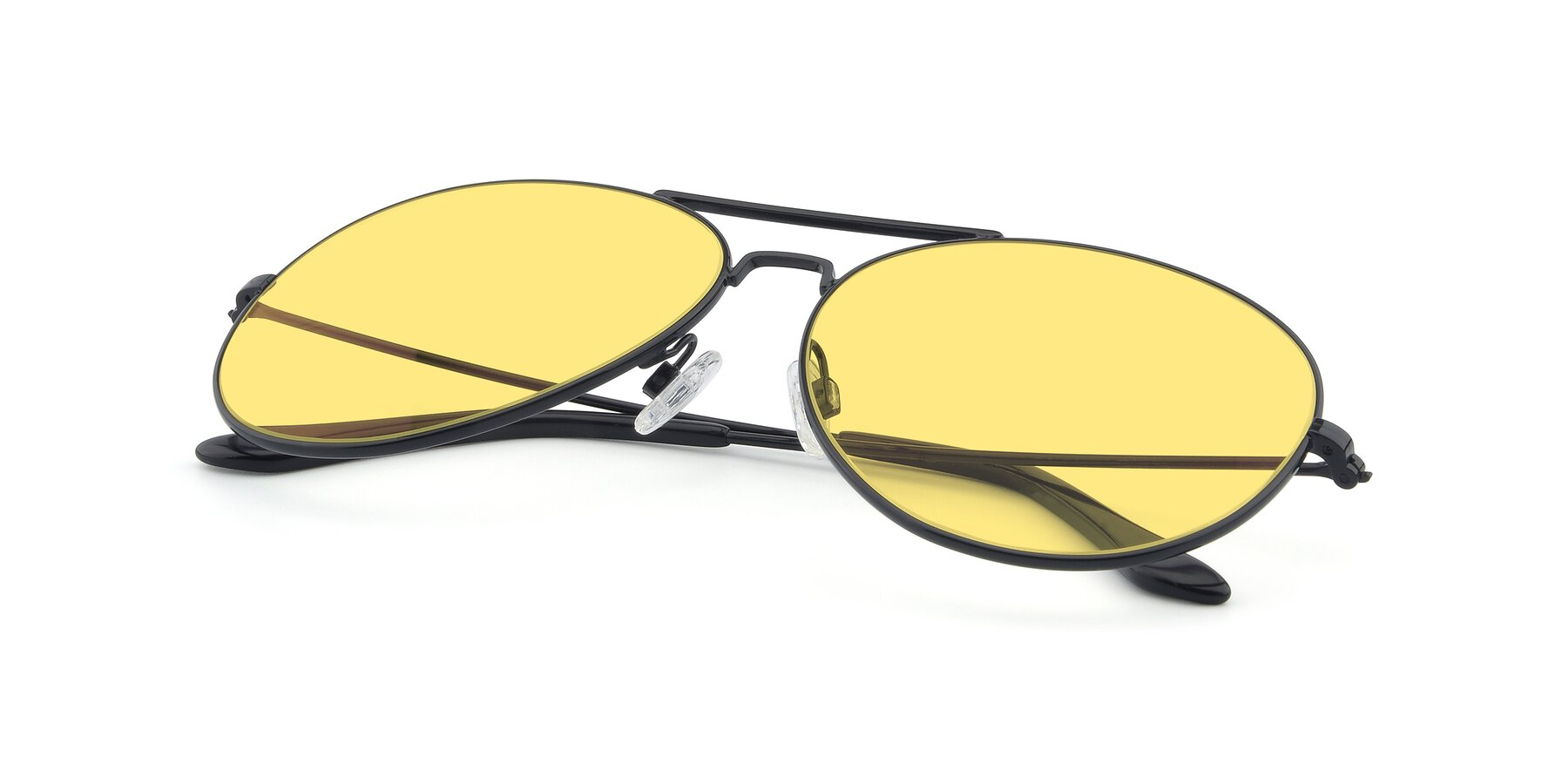View of Paradise in Black with Medium Yellow Tinted Lenses