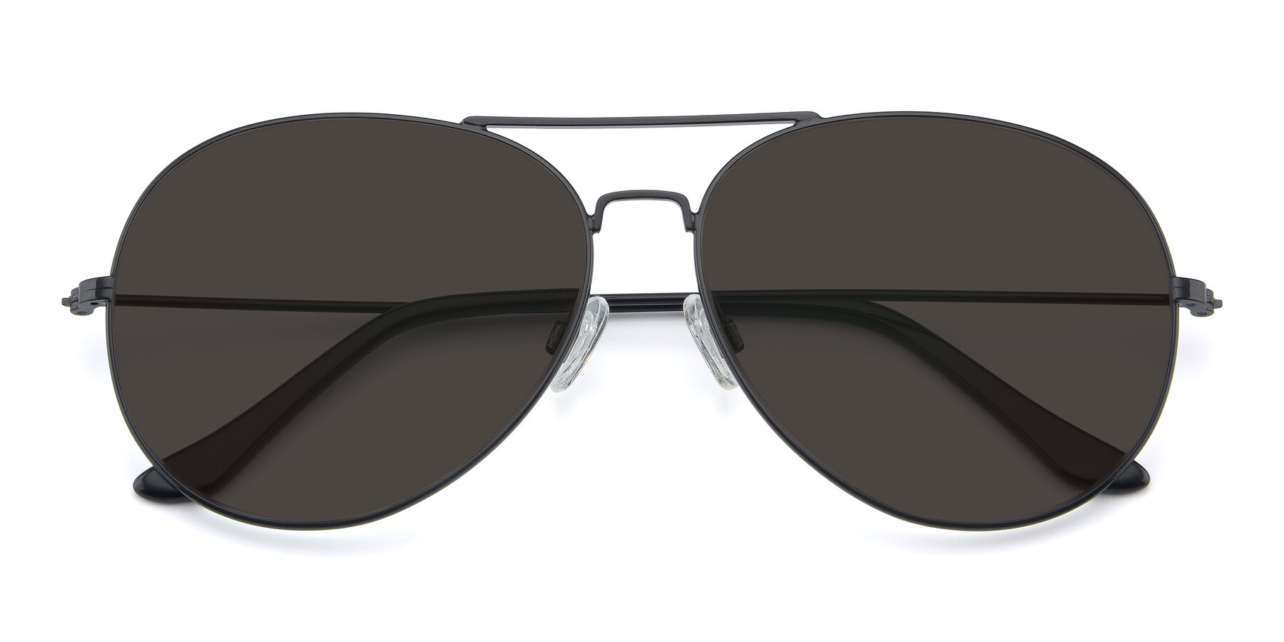 Folded Front of Paradise in Black with Gray Tinted Lenses