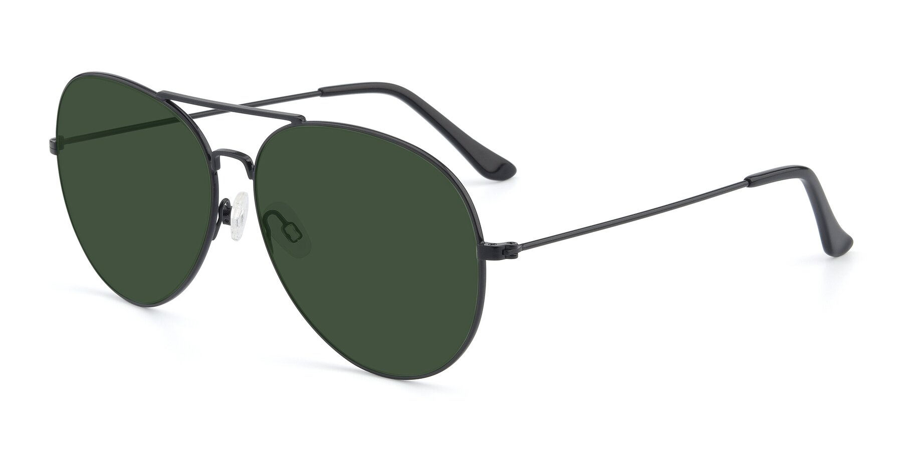 Angle of Paradise in Black with Green Tinted Lenses