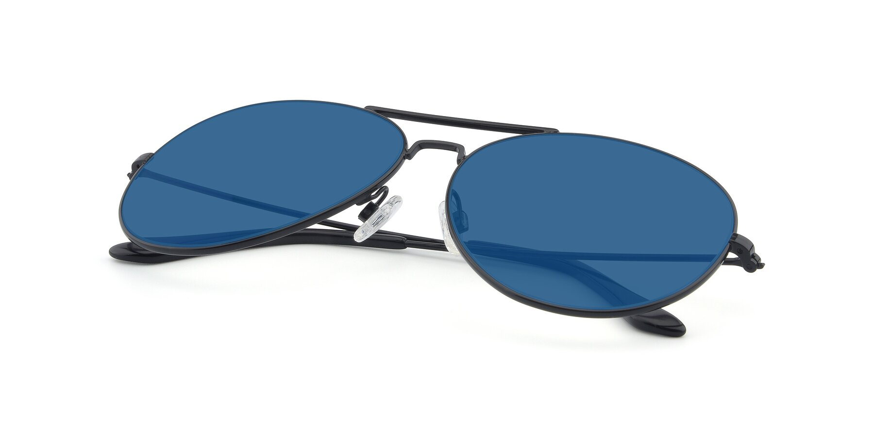 View of Paradise in Black with Blue Tinted Lenses