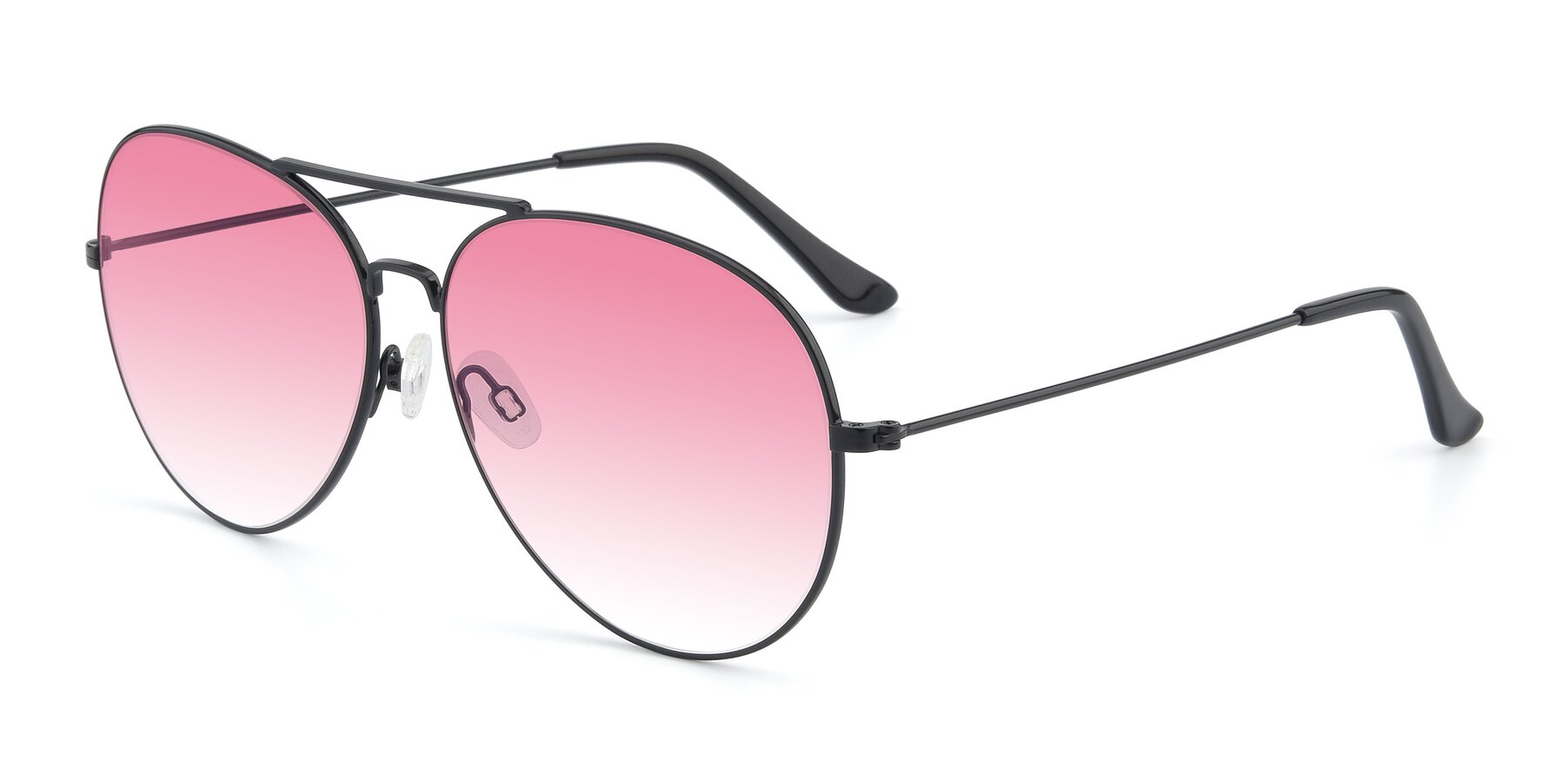 Angle of Paradise in Black with Pink Gradient Lenses