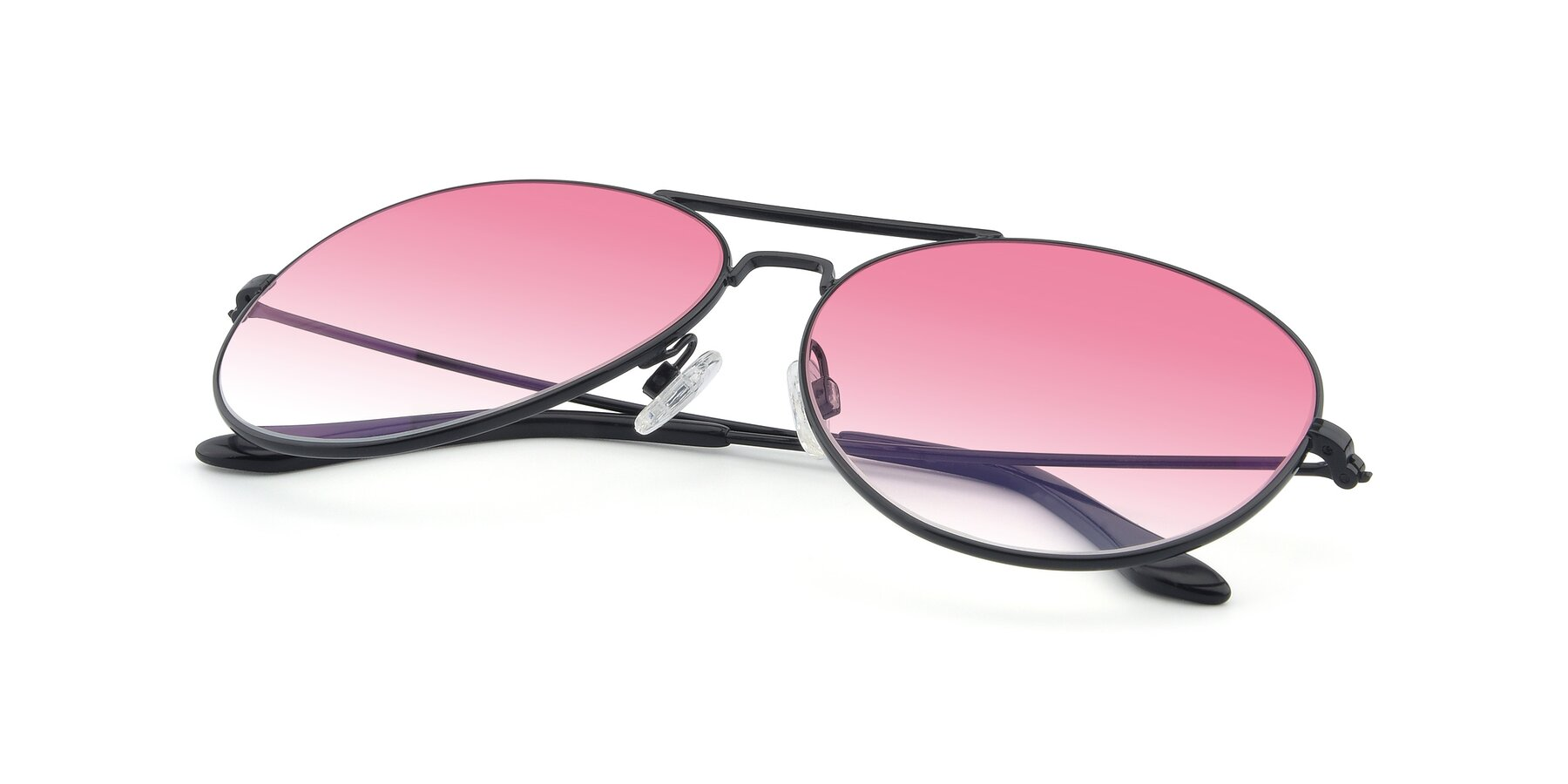 View of Paradise in Black with Pink Gradient Lenses