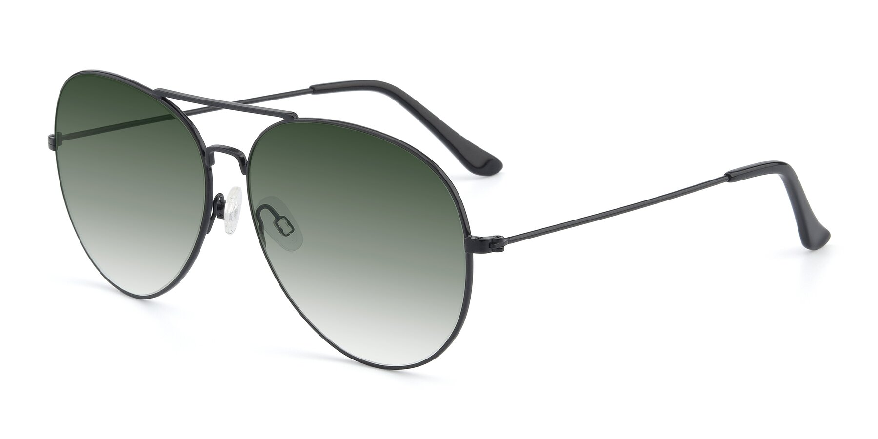 Angle of Paradise in Black with Green Gradient Lenses
