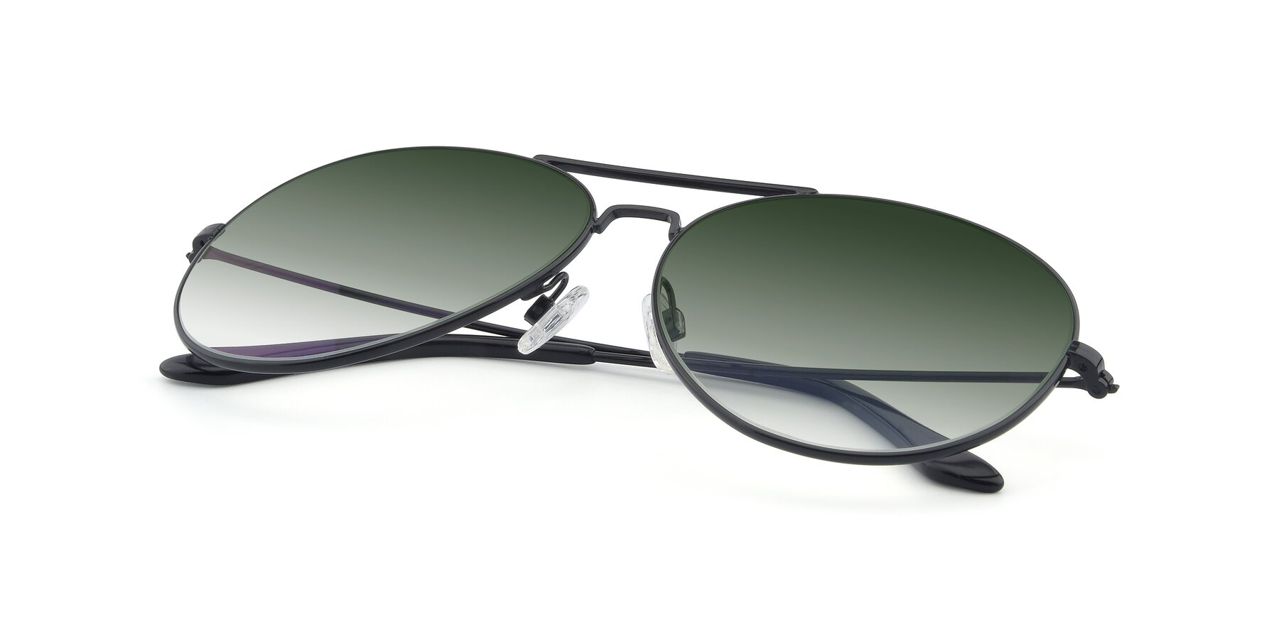 View of Paradise in Black with Green Gradient Lenses