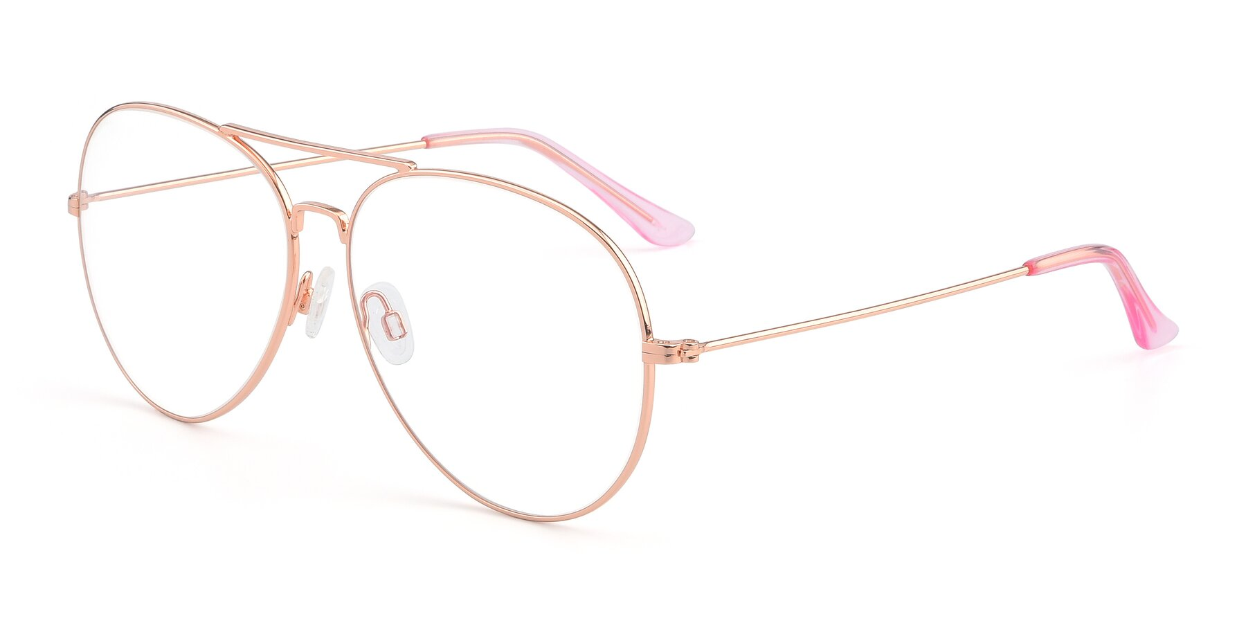 Angle of Paradise in Rose Gold with Clear Eyeglass Lenses