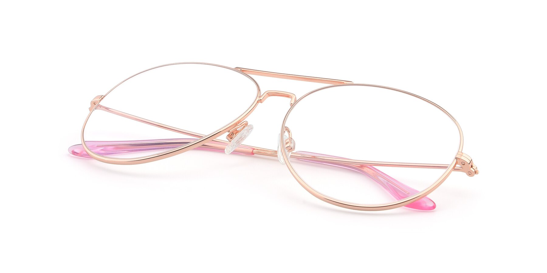 View of Paradise in Rose Gold with Clear Eyeglass Lenses