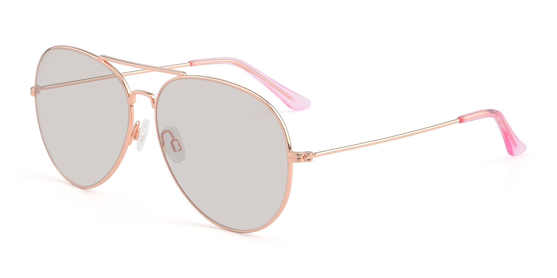 Angle of Paradise in Rose Glod with Light Brown Tinted Lenses