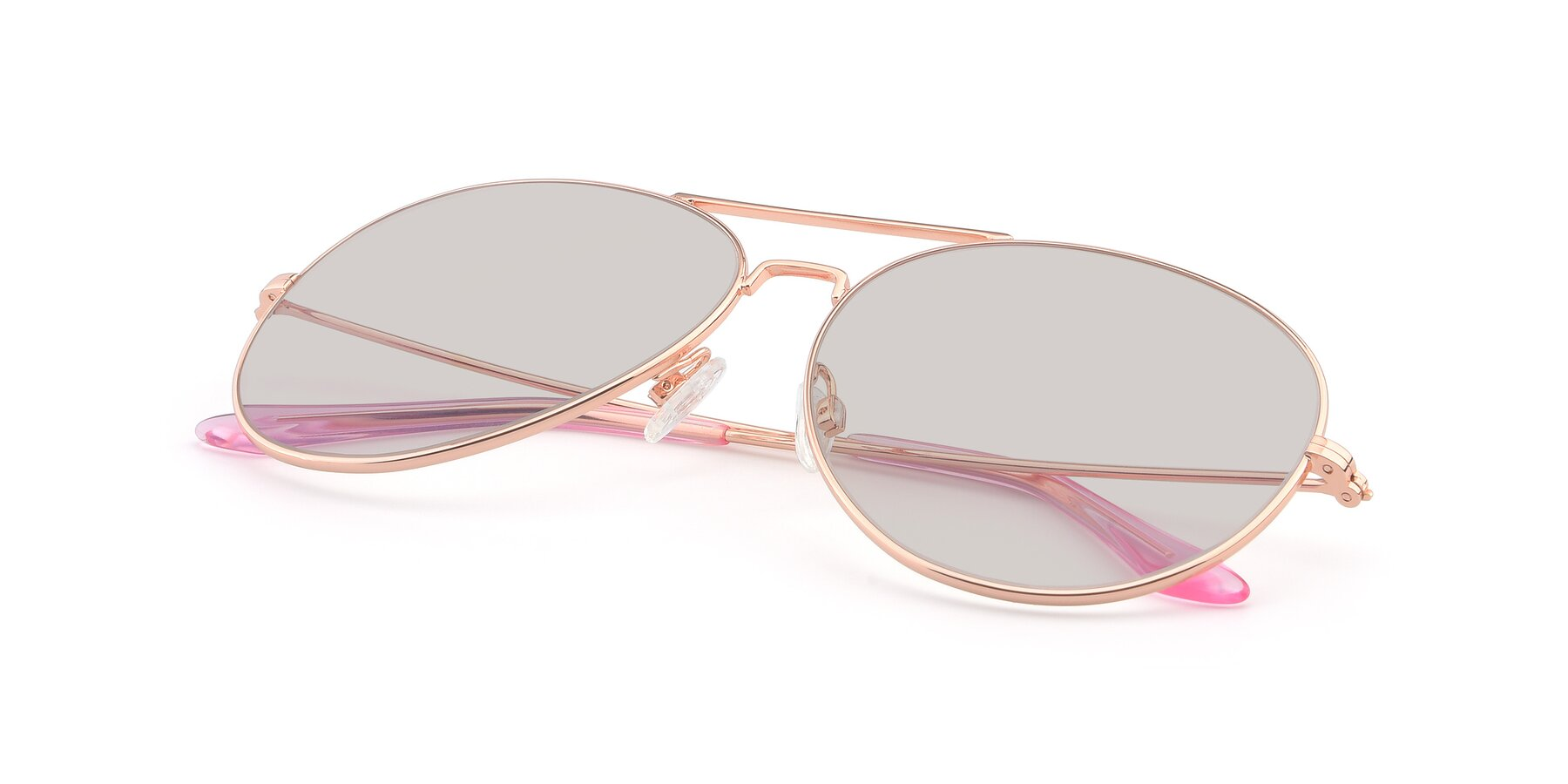 View of Paradise in Rose Glod with Light Brown Tinted Lenses