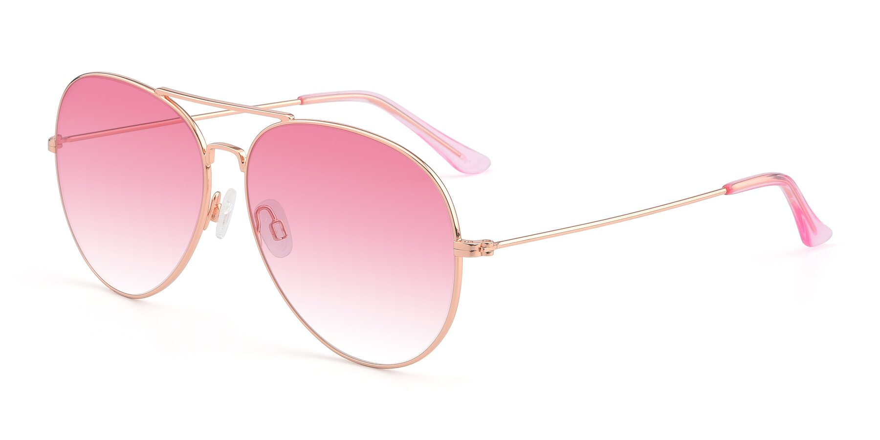 Angle of Paradise in Rose Glod with Pink Gradient Lenses