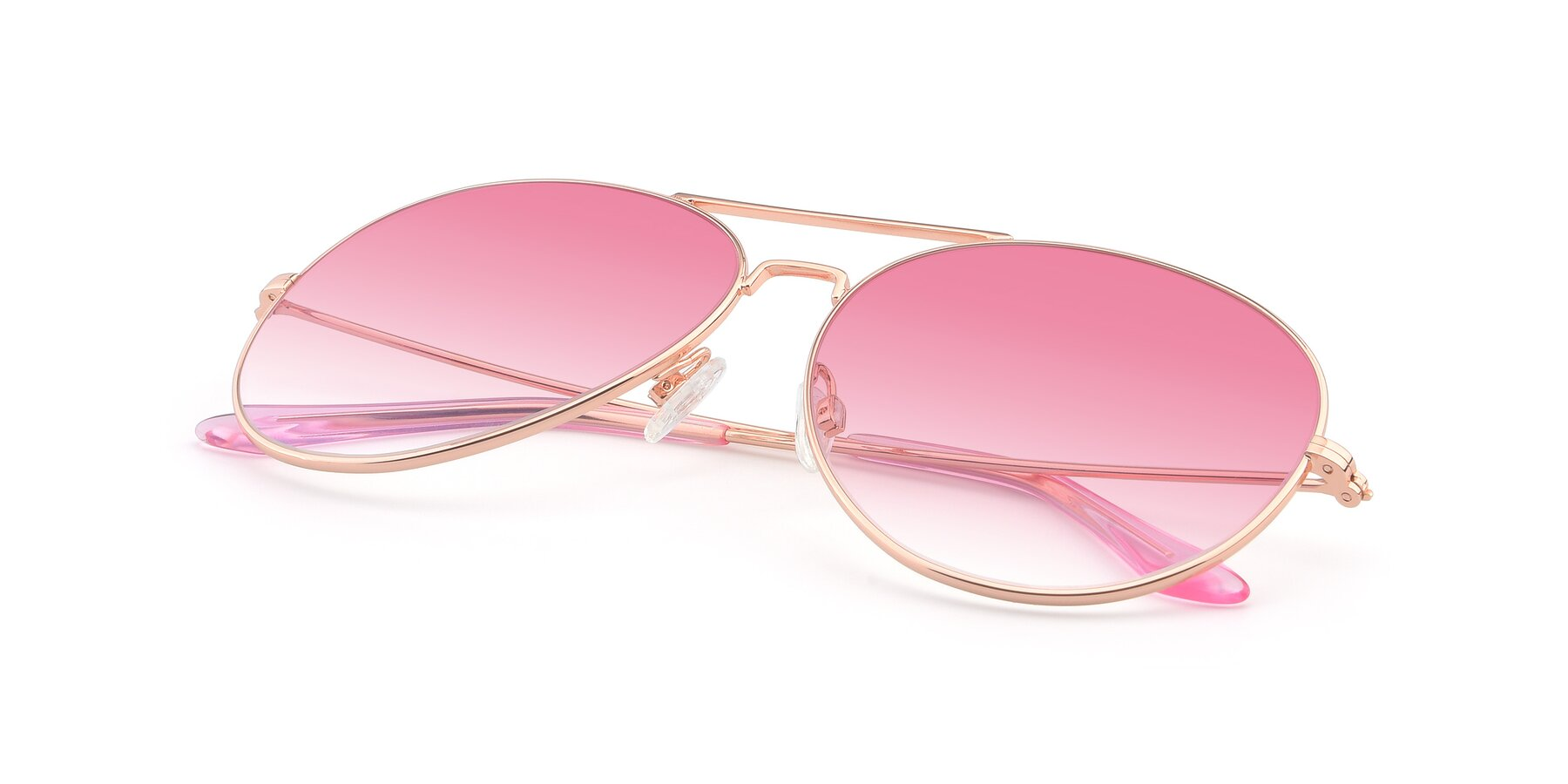 View of Paradise in Rose Glod with Pink Gradient Lenses