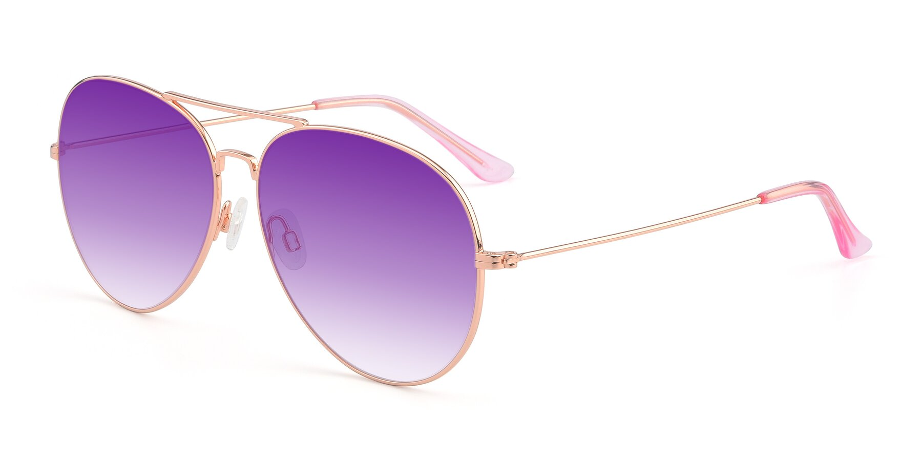 Angle of Paradise in Rose Glod with Purple Gradient Lenses