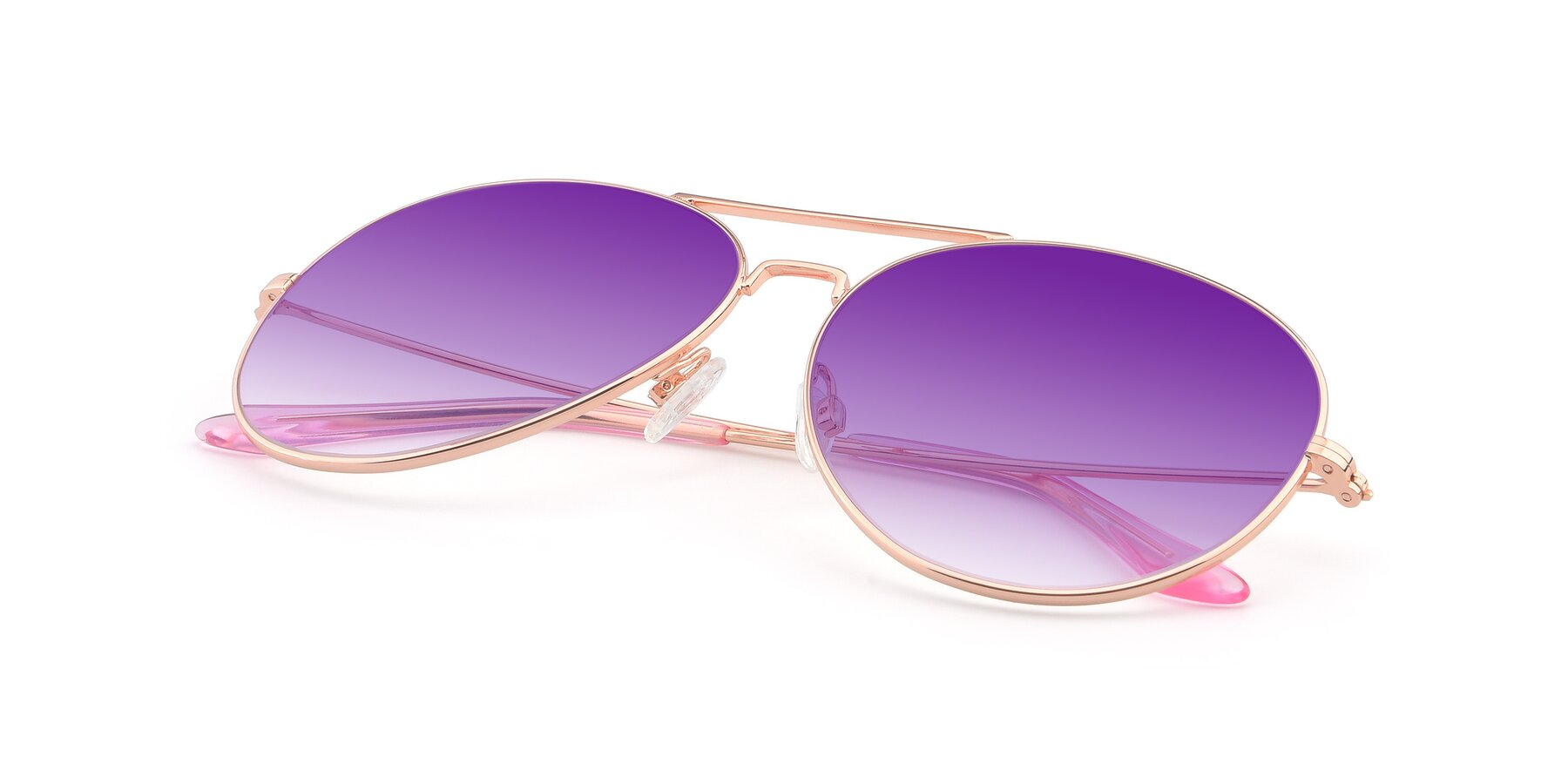 View of Paradise in Rose Glod with Purple Gradient Lenses
