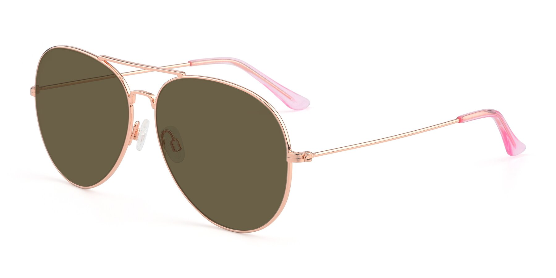 Angle of Paradise in Rose Glod with Brown Polarized Lenses