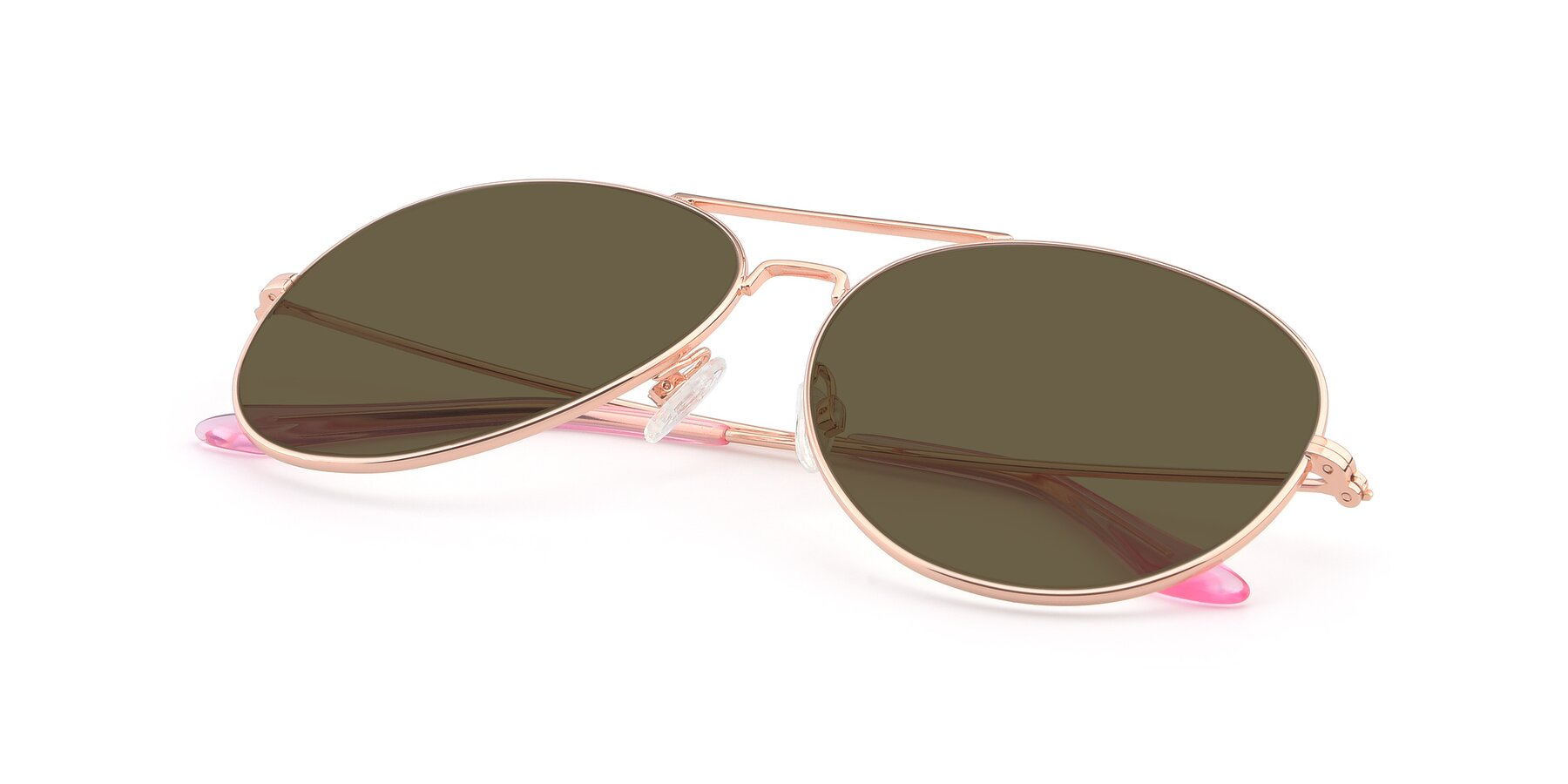View of Paradise in Rose Glod with Brown Polarized Lenses