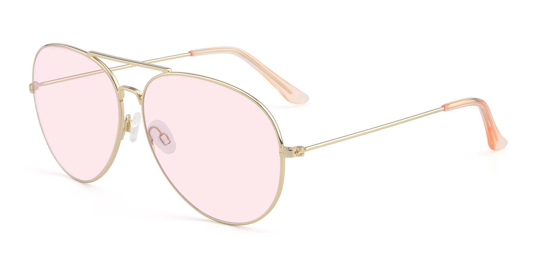 Angle of Paradise in Gold with Light Pink Tinted Lenses