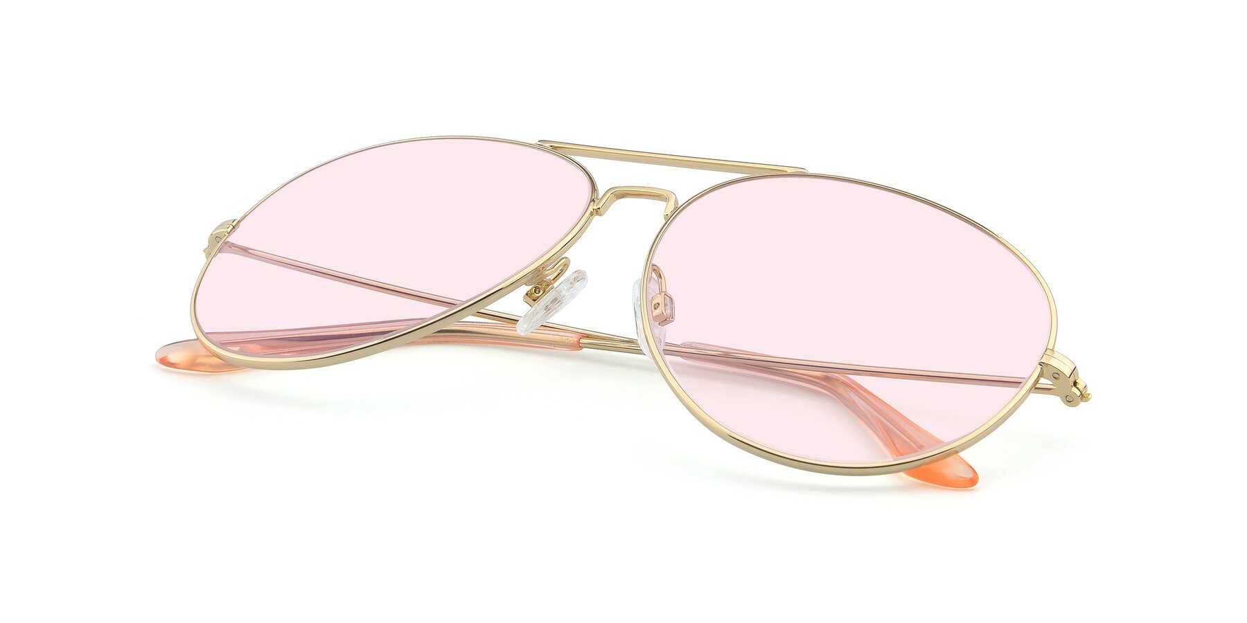 View of Paradise in Gold with Light Pink Tinted Lenses
