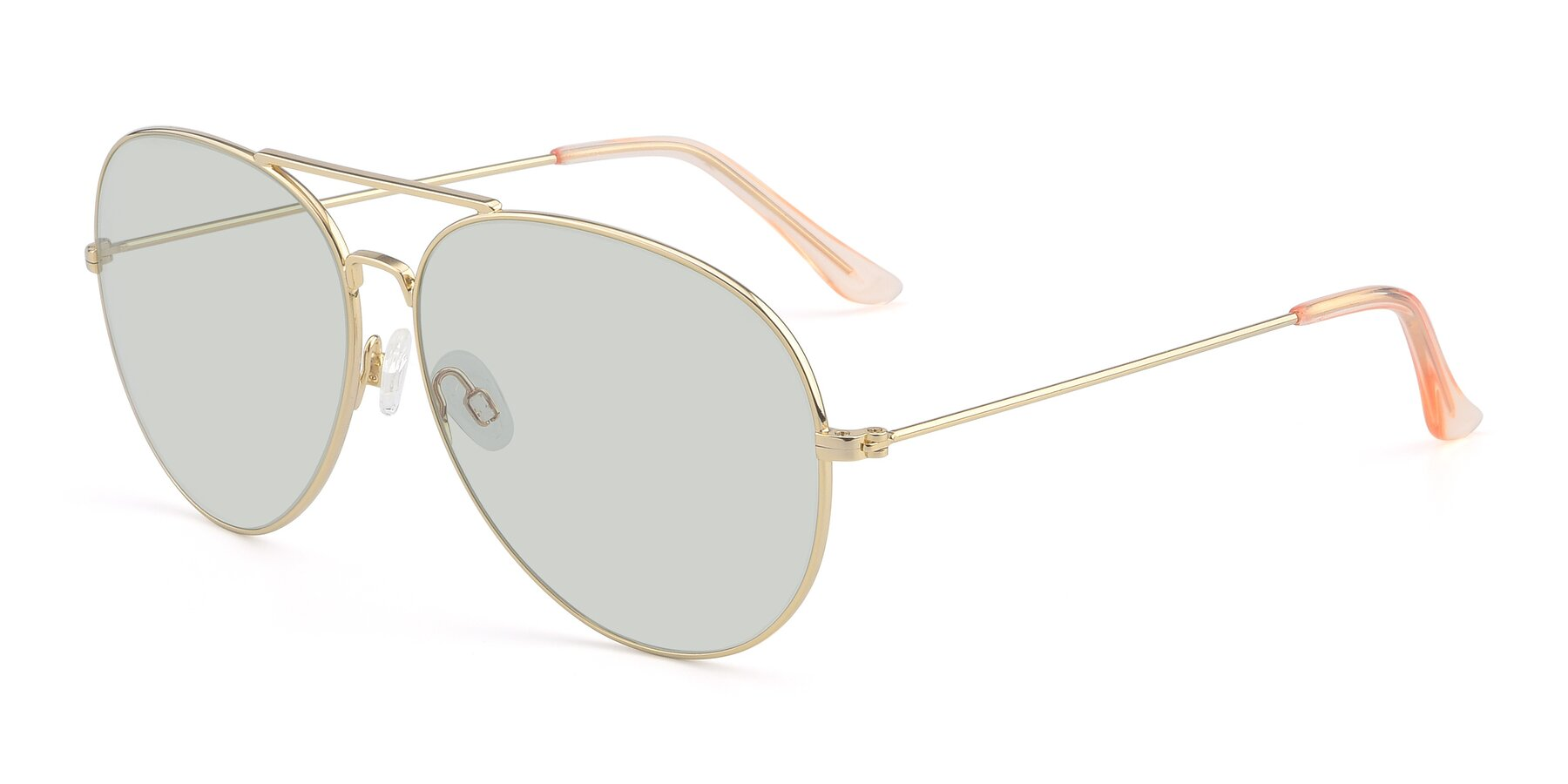 Angle of Paradise in Gold with Light Green Tinted Lenses