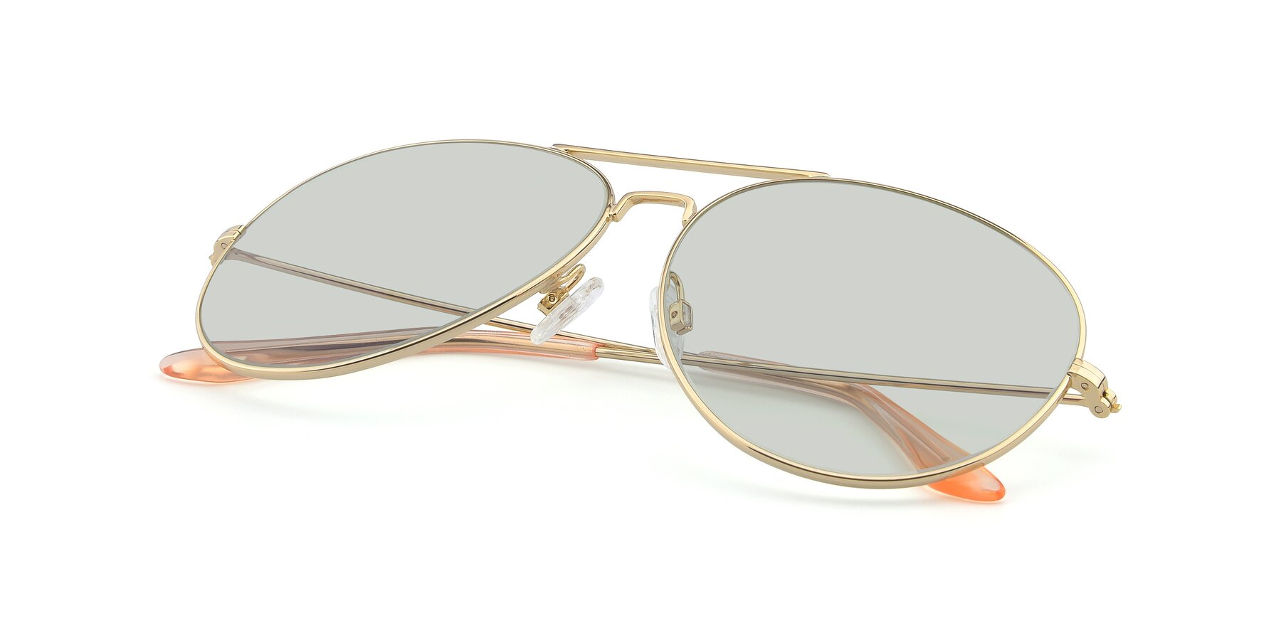 View of Paradise in Gold with Light Green Tinted Lenses